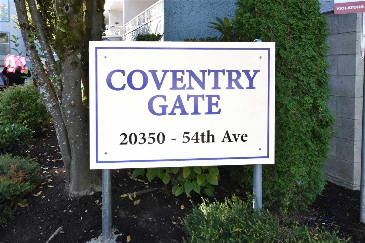 """Main Photo: 207 20350 54 Avenue in Langley: Langley City Condo for sale in """"Coventry Gate"""" : MLS®# R2205641"""