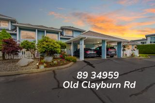 """Photo 1: 89 34959 OLD CLAYBURN Road in Abbotsford: Abbotsford East Townhouse for sale in """"Crown Point Villas"""" : MLS®# R2623831"""
