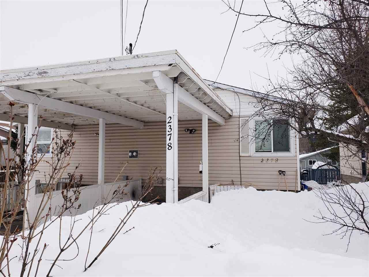 Main Photo: 2378 VICTORIA Street in Prince George: Assman 1/2 Duplex for sale (PG City Central (Zone 72))  : MLS®# R2434949