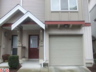 Photo 2: #12 6651 203rd Street in Langley: Willoughby Heights Townhouse for sale : MLS®# F1204178
