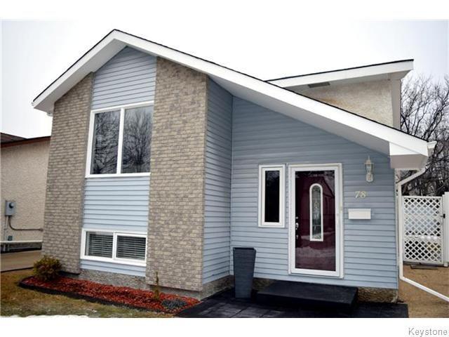 Main Photo: 78 Satinwood Place in Winnipeg: St Vital Residential for sale (South East Winnipeg)  : MLS®# 1605581