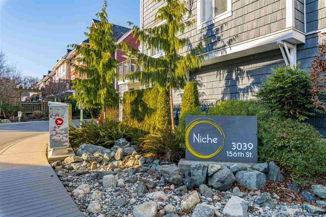 """Main Photo: 9 3039 156 STREET Street in Surrey: Grandview Surrey Townhouse for sale in """"NICHE"""" (South Surrey White Rock)  : MLS®# R2531292"""