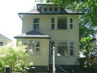 Photo 1: 886 Sherburn Street in WINNIPEG: West End / Wolseley Single Family Detached for sale (West Winnipeg)  : MLS®# 1315241