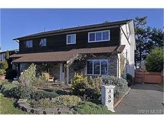 Photo 1: 359 Pooley Pl in VICTORIA: Es Old Esquimalt Half Duplex for sale (Esquimalt)  : MLS®# 454988