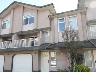 Photo 1: 21 2538 PITT RIVER Road in Port Coquitlam: Mary Hill Townhouse for sale : MLS®# V997236