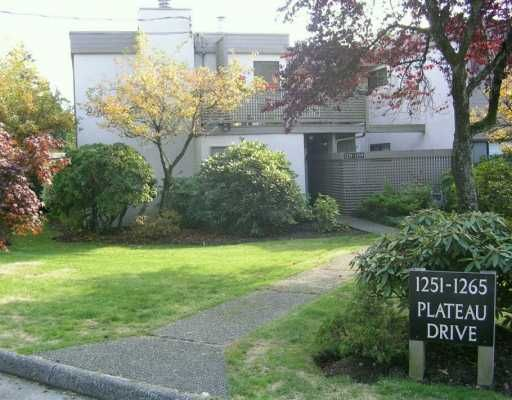 """Main Photo: 1259 PLATEAU DR in North Vancouver: Pemberton Heights Condo for sale in """"PLATEAU VILLAGE"""" : MLS®# V560551"""
