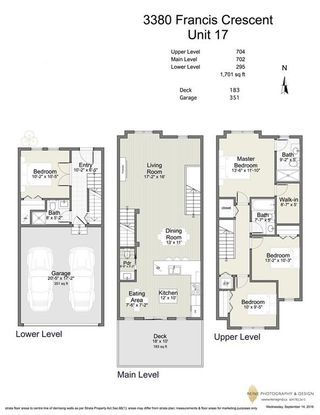 """Photo 19: 17 3380 FRANCIS Crescent in Coquitlam: Burke Mountain Townhouse for sale in """"Francis Gate"""" : MLS®# R2110259"""