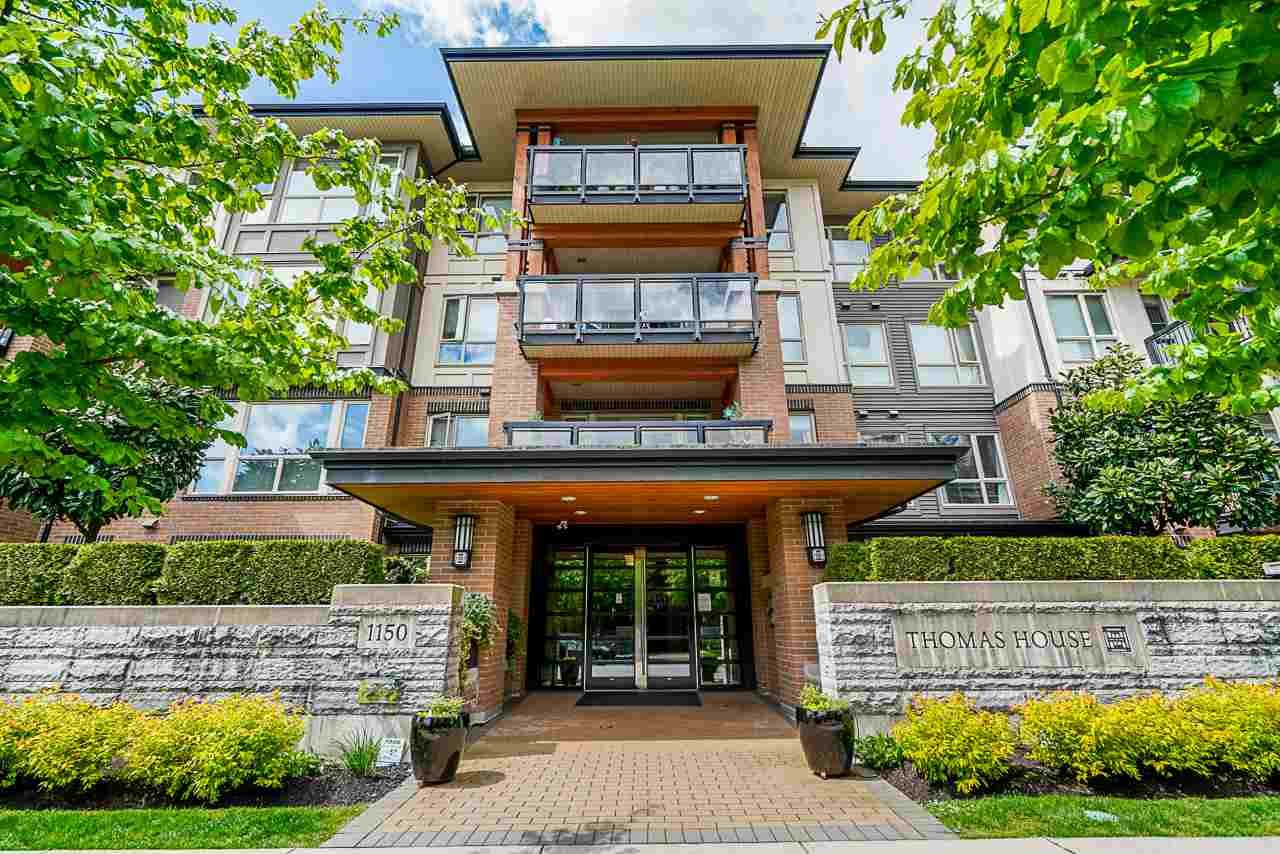 "Main Photo: 418 1150 KENSAL Place in Coquitlam: New Horizons Condo for sale in ""THOMAS HOUSE BY POLYGON"" : MLS®# R2453457"