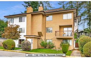 "Photo 1: 203 7182 133A Street in Surrey: West Newton Townhouse for sale in ""Suncreek Estates"" : MLS®# R2538111"