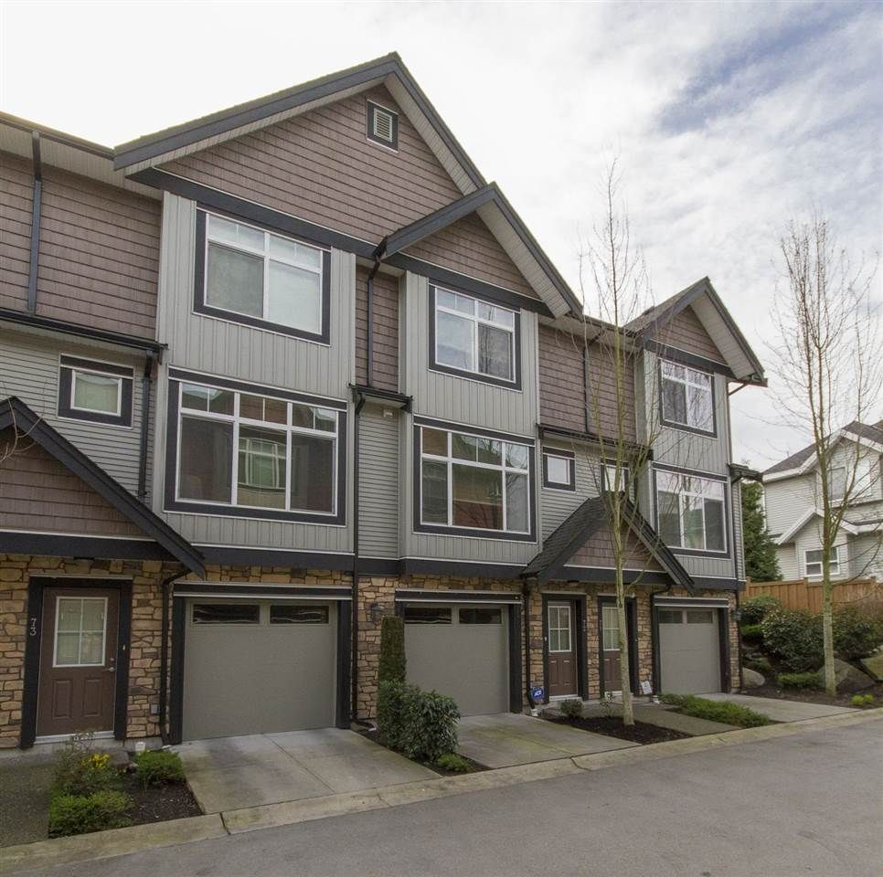 "Main Photo: 72 6299 144 Street in Surrey: Sullivan Station Townhouse for sale in ""Altura"" : MLS®# R2040563"