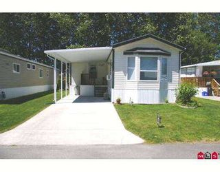 """Photo 1: 47 7610 EVANS Road in Sardis: Sardis West Vedder Rd Manufactured Home for sale in """"COTTONWOOD MHP"""" : MLS®# H2703095"""