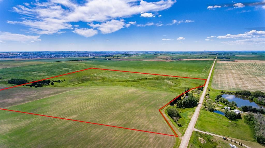 Main Photo: 153.7 +/- Acres West of Airdrie in Rural Rocky View County: Rural Rocky View MD Land for sale : MLS®# A1065287