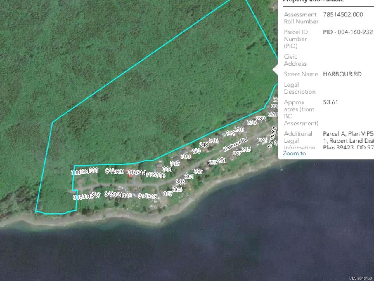 Photo 8: Photos: 0 Harbour Rd in PORT HARDY: NI Port Hardy Land for sale (North Island)  : MLS®# 845468