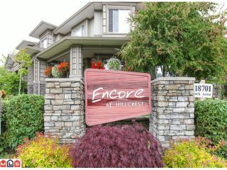 """Photo 1: 22 18701 66TH Avenue in Surrey: Cloverdale BC Townhouse for sale in """"ENCORE"""" (Cloverdale)  : MLS®# F1215196"""