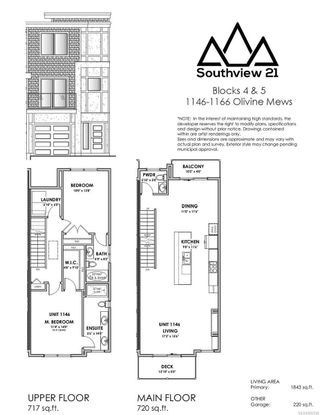 Photo 2: 1150 Olivine Mews in : La Bear Mountain Row/Townhouse for sale (Langford)  : MLS®# 882566