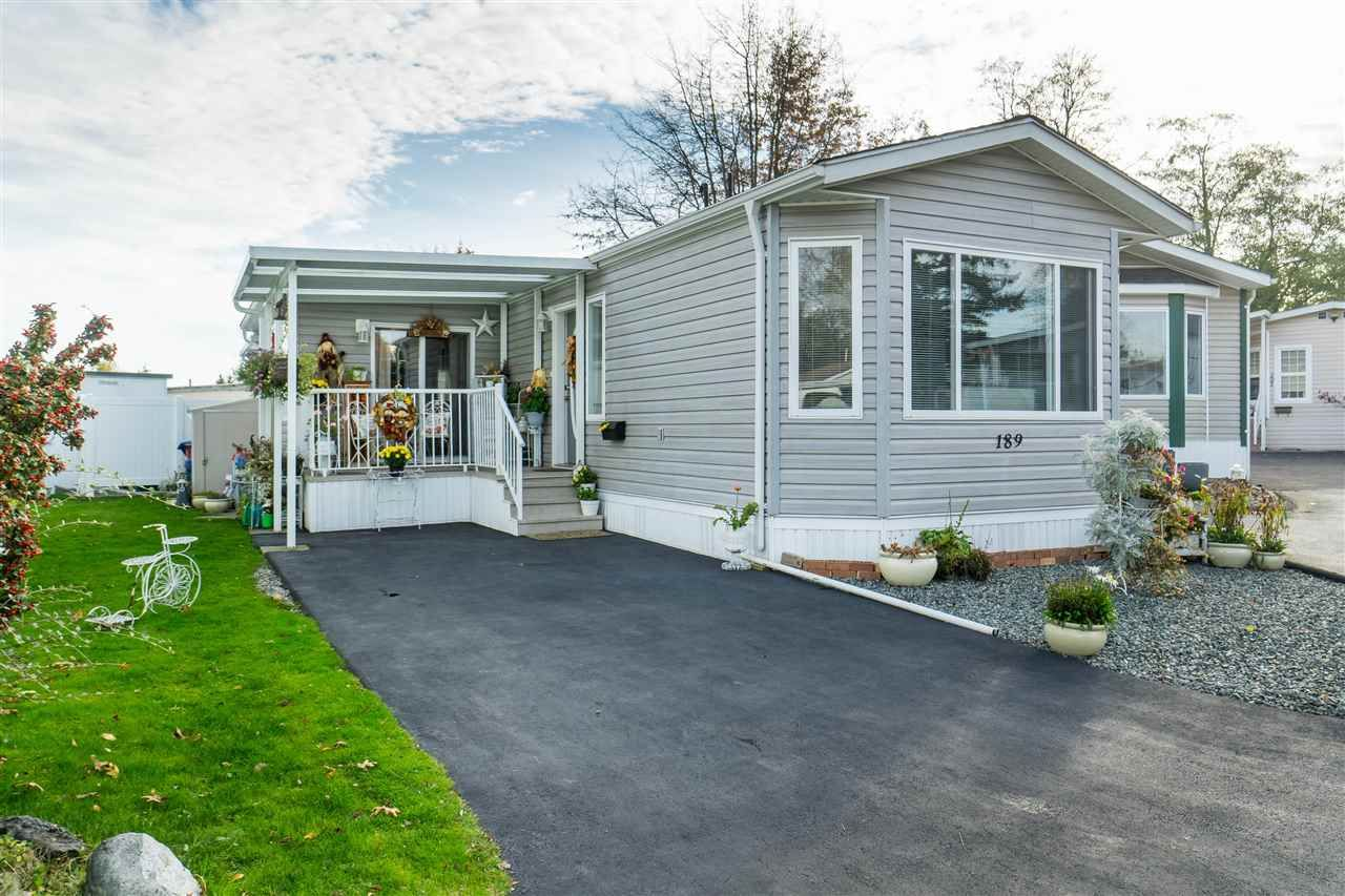 Main Photo: 189 1840 160 STREET in Surrey: King George Corridor Manufactured Home for sale (South Surrey White Rock)  : MLS®# R2393774