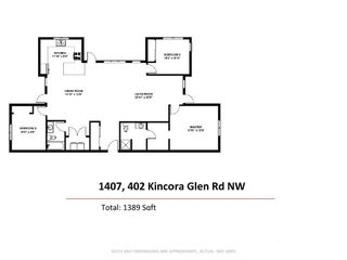Photo 20: 1407 402 Kincora Glen Road NW in Calgary: Kincora Apartment for sale : MLS®# A1110419