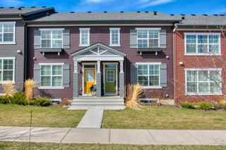 Photo 1: 182 Silverado Boulevard SW in Calgary: Silverado Row/Townhouse for sale : MLS®# A1102908