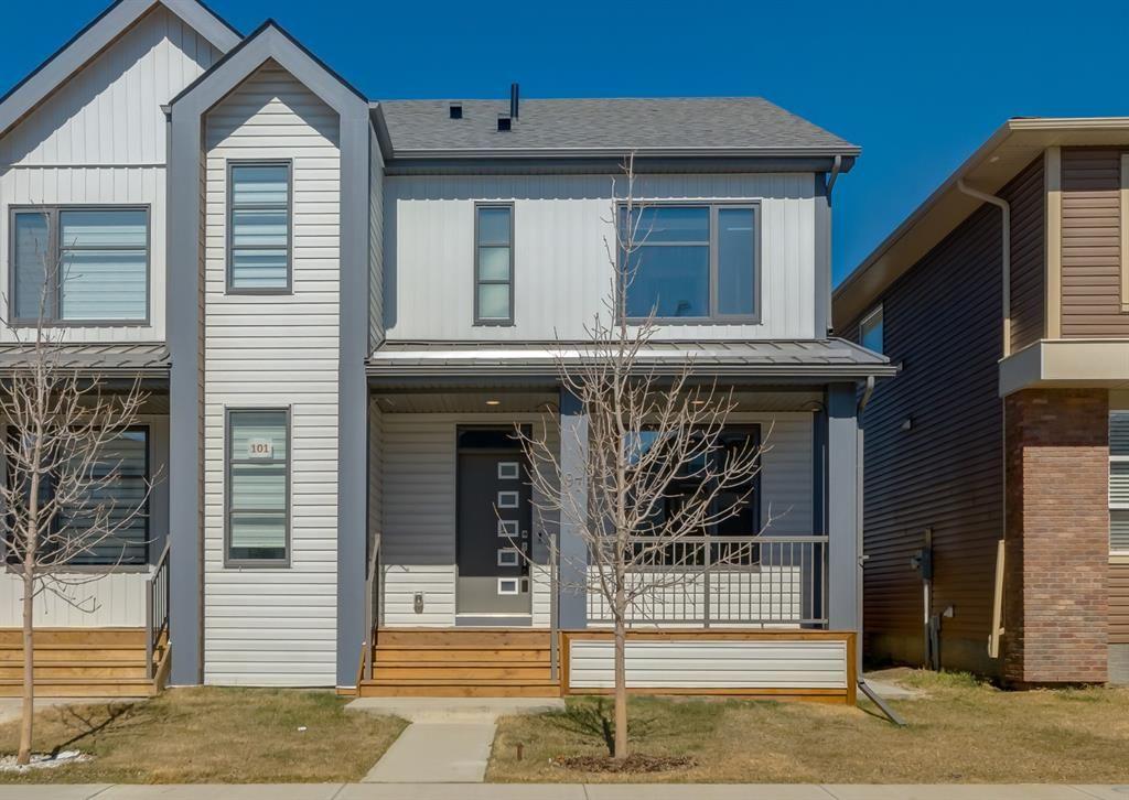 Main Photo: 97 Seton Terrace SE in Calgary: Seton Semi Detached for sale : MLS®# A1069514