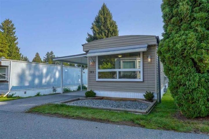 """Main Photo: 182 7790 KING GEORGE Boulevard in Surrey: East Newton Manufactured Home for sale in """"CRISPEN BAYS"""" : MLS®# R2591510"""