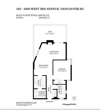 "Photo 33: 102 1820 W 3RD Avenue in Vancouver: Kitsilano Condo for sale in ""The Monterey"" (Vancouver West)  : MLS®# R2603716"
