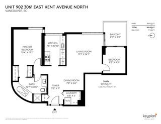 Photo 2: 902 3061 E KENT NORTH AVENUE in Vancouver: Fraserview VE Condo for sale (Vancouver East)  : MLS®# R2330993