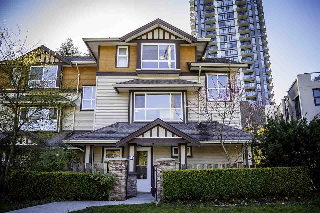 Main Photo: 14 3685 WOODLAND Drive in Port Coquitlam: Woodland Acres PQ Townhouse for sale : MLS®# R2159043