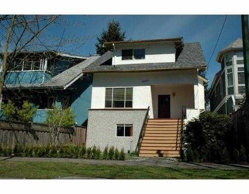 Main Photo: 3449 W 6TH AV in : Kitsilano House for sale : MLS®# V781504