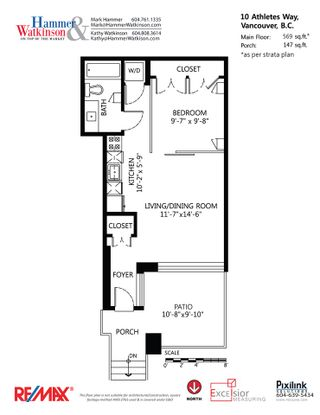 """Photo 16: 10 ATHLETES Way in Vancouver: False Creek Condo for sale in """"Kayak at the Village"""" (Vancouver West)  : MLS®# R2026611"""