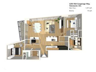 """Photo 10: 1203 918 COOPERAGE Way in Vancouver: Yaletown Condo for sale in """"THE MARINER"""" (Vancouver West)  : MLS®# V1048985"""