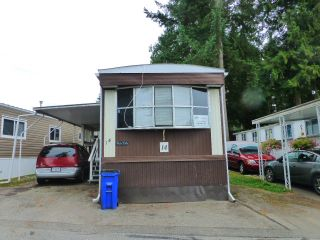 "Photo 1: 14 24330 FRASER Highway in Langley: Otter District Manufactured Home for sale in ""LANGLEY GROVE ESTATES"" : MLS®# R2198499"
