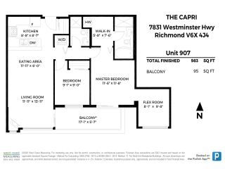 """Photo 7: 907 7831 WESTMINSTER Highway in Richmond: Brighouse Condo for sale in """"The Capri"""" : MLS®# R2533815"""