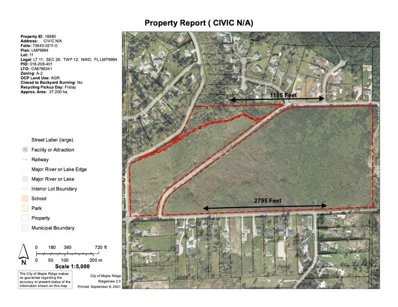 Main Photo: LOT 11 248 Street in Maple Ridge: Websters Corners Land for sale : MLS®# R2608245