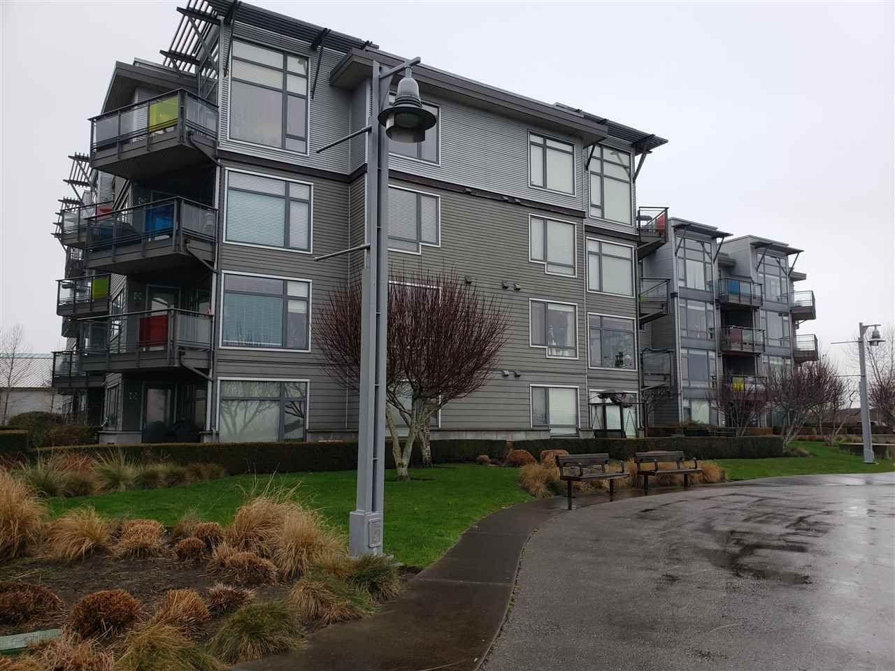 Exterior building view from Riverport Walkway