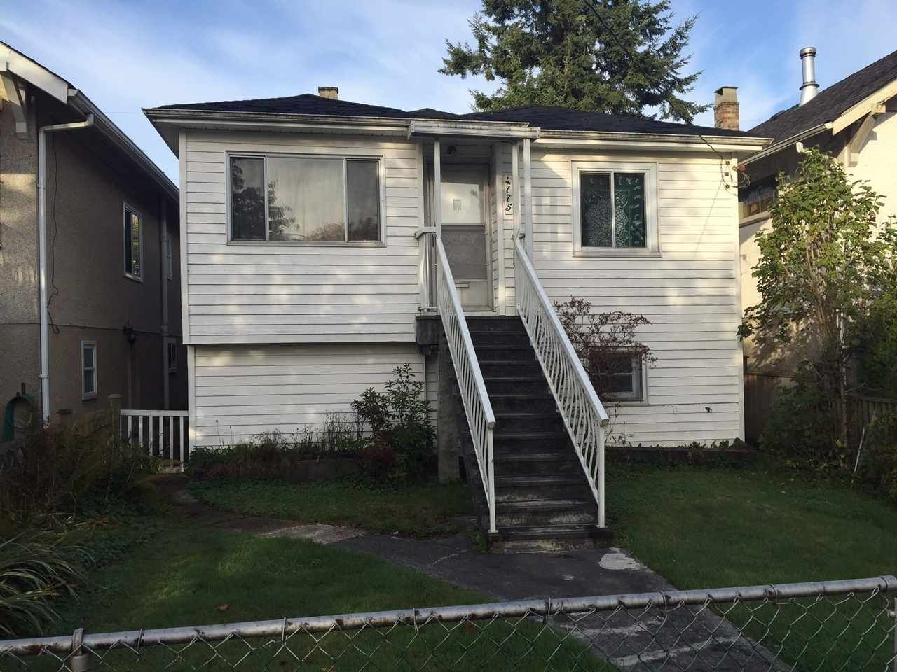 Main Photo: 4175 ST. GEORGE Street in Vancouver: Fraser VE House for sale (Vancouver East)  : MLS®# R2019484