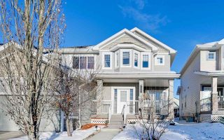 Photo 1: 1541 RUTHERFORD Road in Edmonton: Zone 55 House Half Duplex for sale : MLS®# E4228233