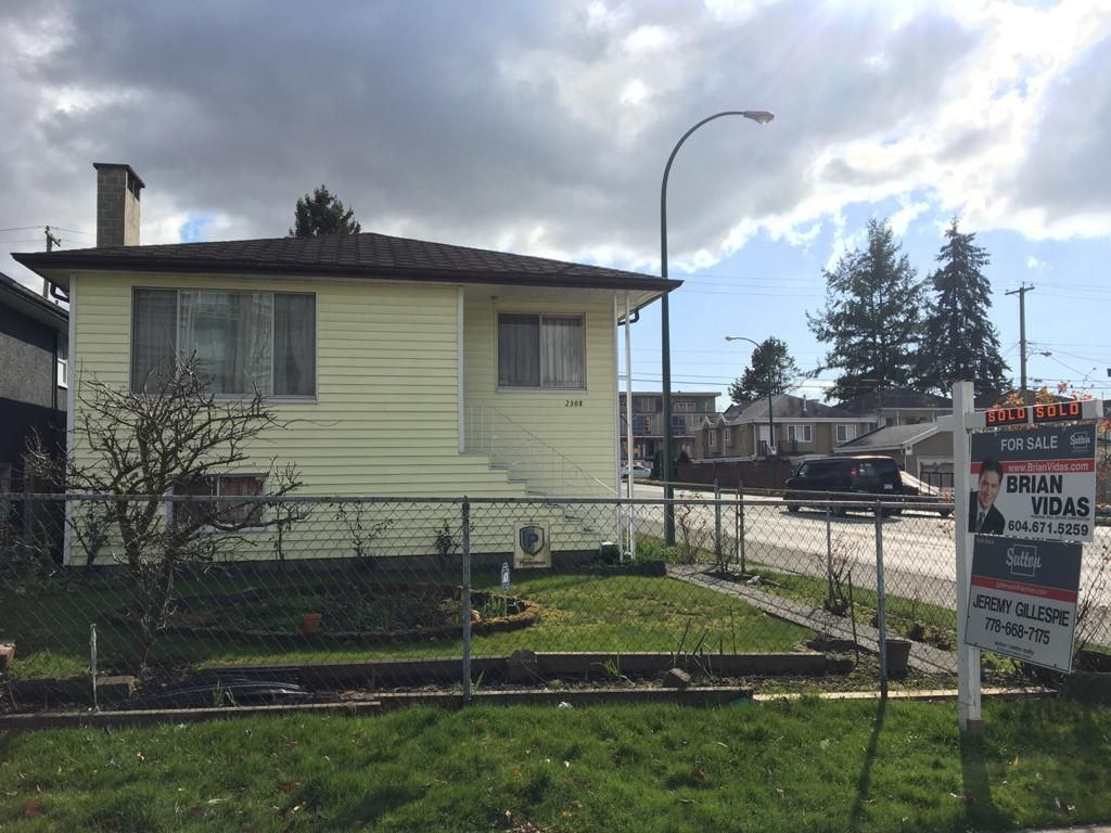 Main Photo: 2308 E. 30th Ave in Vancouver: House for sale
