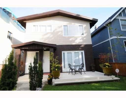 Main Photo: 1017 E 11TH Avenue in Vancouver: Mount Pleasant VE 1/2 Duplex for sale (Vancouver East)  : MLS®# V789077