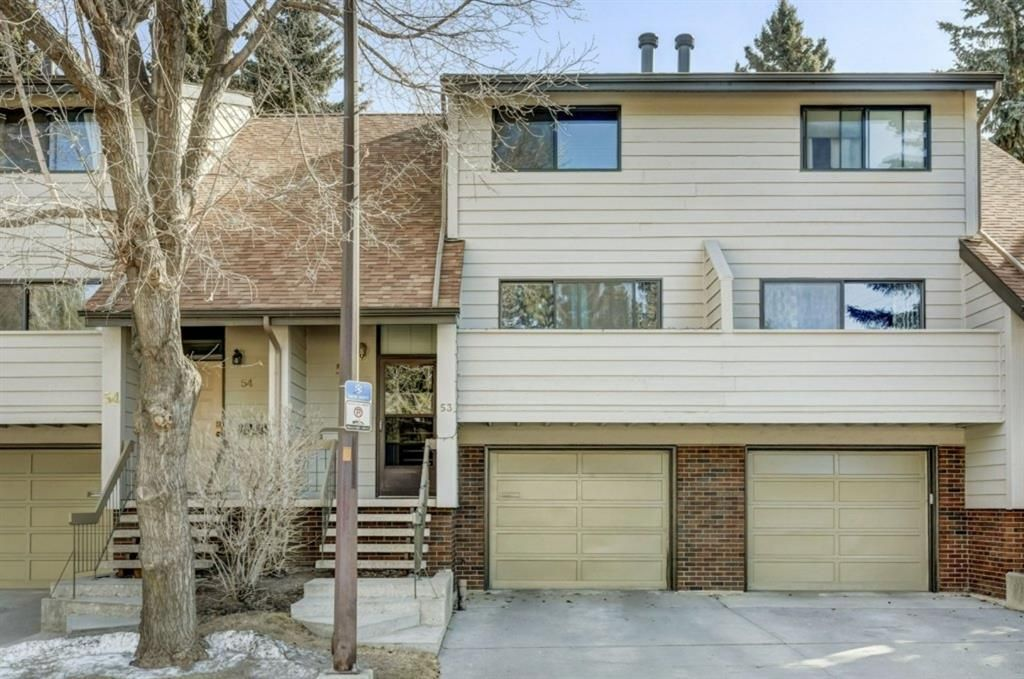 Main Photo: Floor plans: 53 3302 50 Street NW in Calgary: Varsity Row/Townhouse for sale : MLS®# A1088935