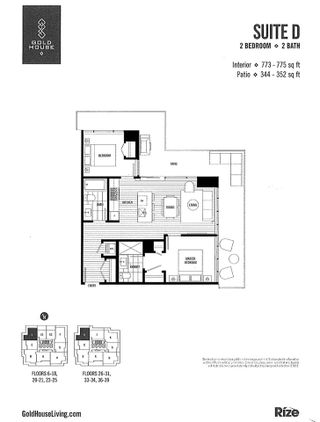 """Photo 9: 1008 6383 MCKAY Avenue in Burnaby: Metrotown Condo for sale in """"Gold House North Tower"""" (Burnaby South)  : MLS®# R2519798"""