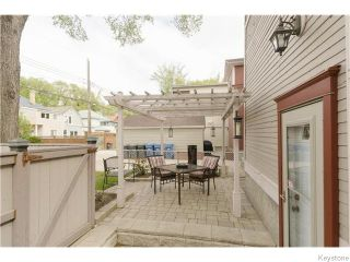 Photo 18: 166 Ruby Street in Winnipeg: West End / Wolseley Residential for sale (West Winnipeg)  : MLS®# 1612567