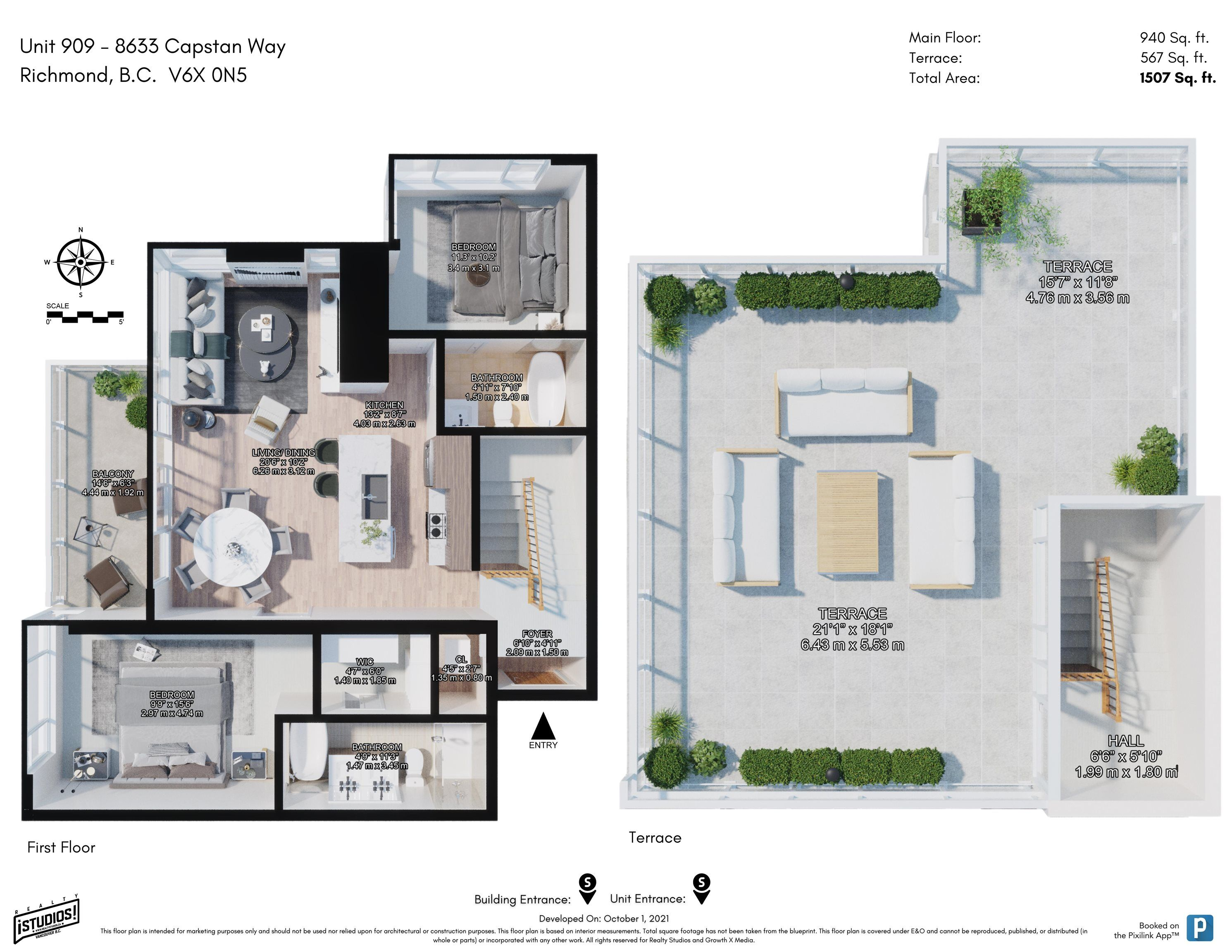 """Main Photo: 909 8633 CAPSTAN Way in Richmond: West Cambie Condo for sale in """"Pinnacle Living at Capstan Village A"""" : MLS®# R2623748"""