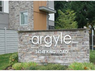 """Photo 2: 62 34248 KING Road in Abbotsford: Poplar Townhouse for sale in """"The Argyle"""" : MLS®# F1325093"""