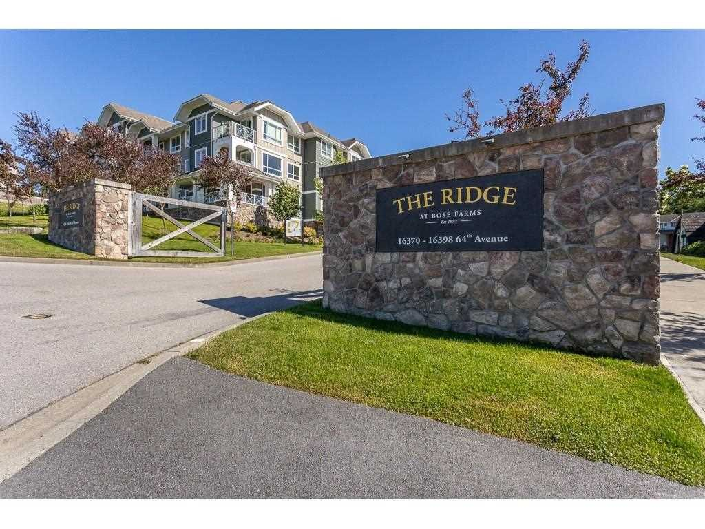 """Main Photo: 104 16398 64 Avenue in Surrey: Cloverdale BC Condo for sale in """"The Ridge at Bose Farm"""" (Cloverdale)  : MLS®# R2590975"""