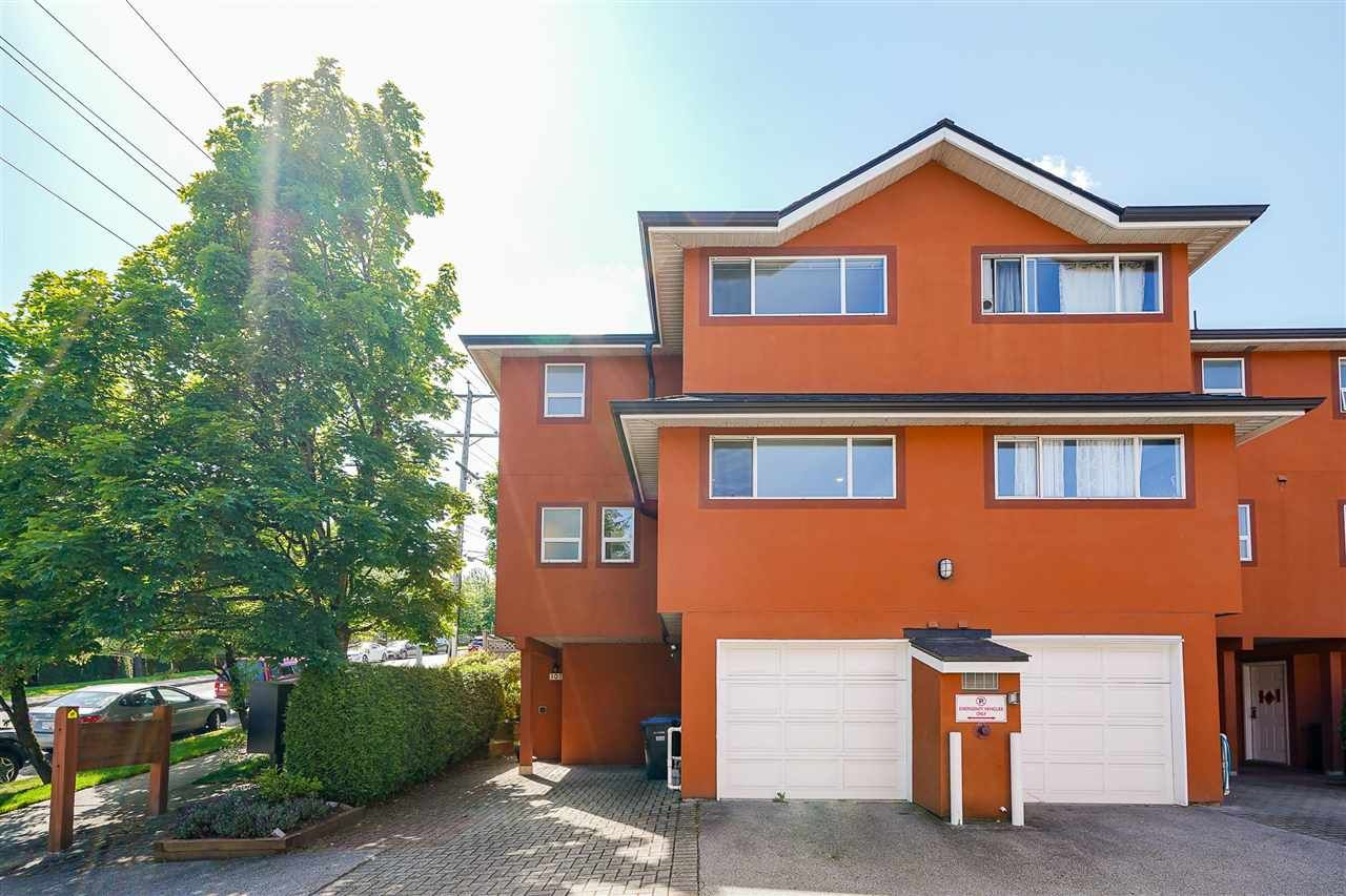 Main Photo: 101 303 CUMBERLAND Street in New Westminster: Sapperton Townhouse for sale : MLS®# R2584594
