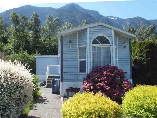Main Photo: 46 62790 FLOOD HOPE Road in Hope: Hope Laidlaw Manufactured Home for sale : MLS®# R2354384