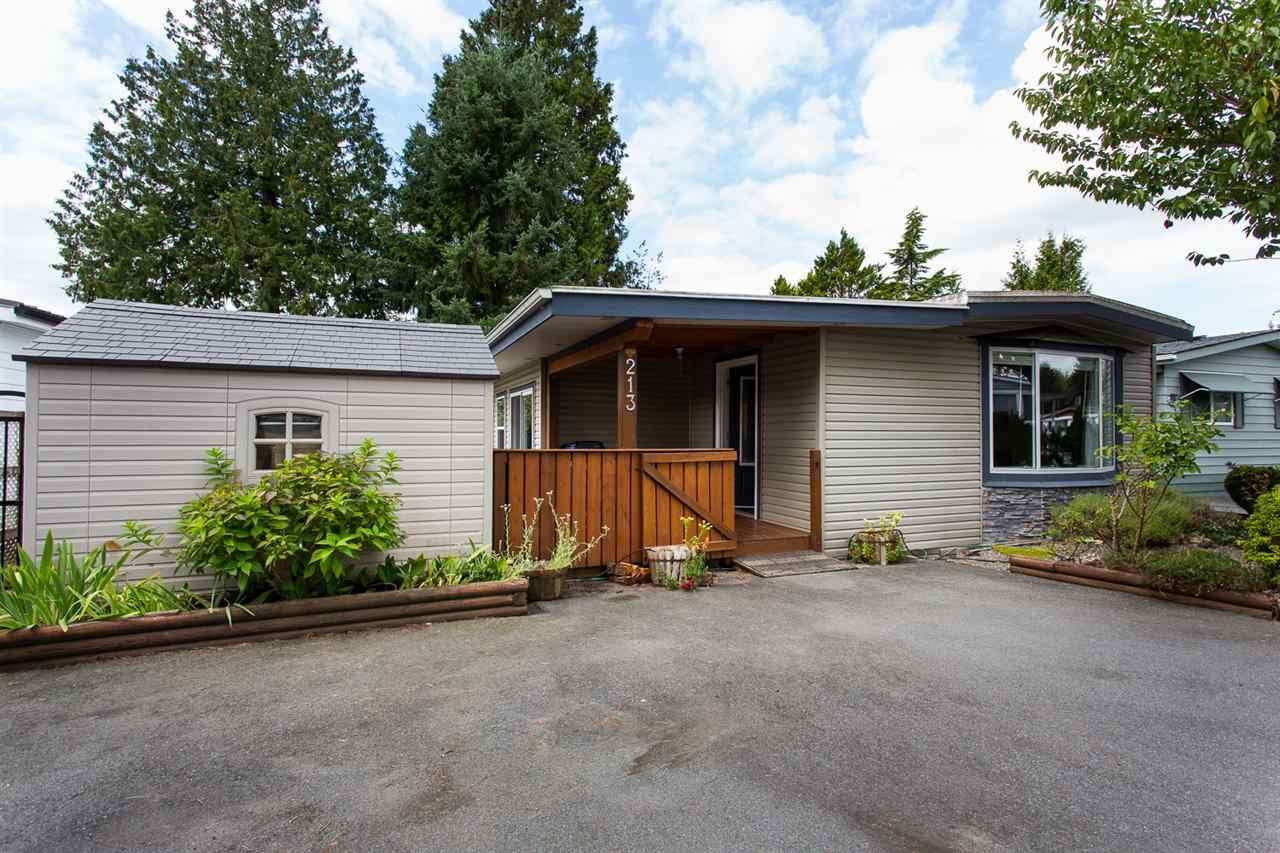 """Main Photo: 213 3665 244 Street in Langley: Aldergrove Langley Manufactured Home for sale in """"Langley Grove Estates"""" : MLS®# R2420727"""