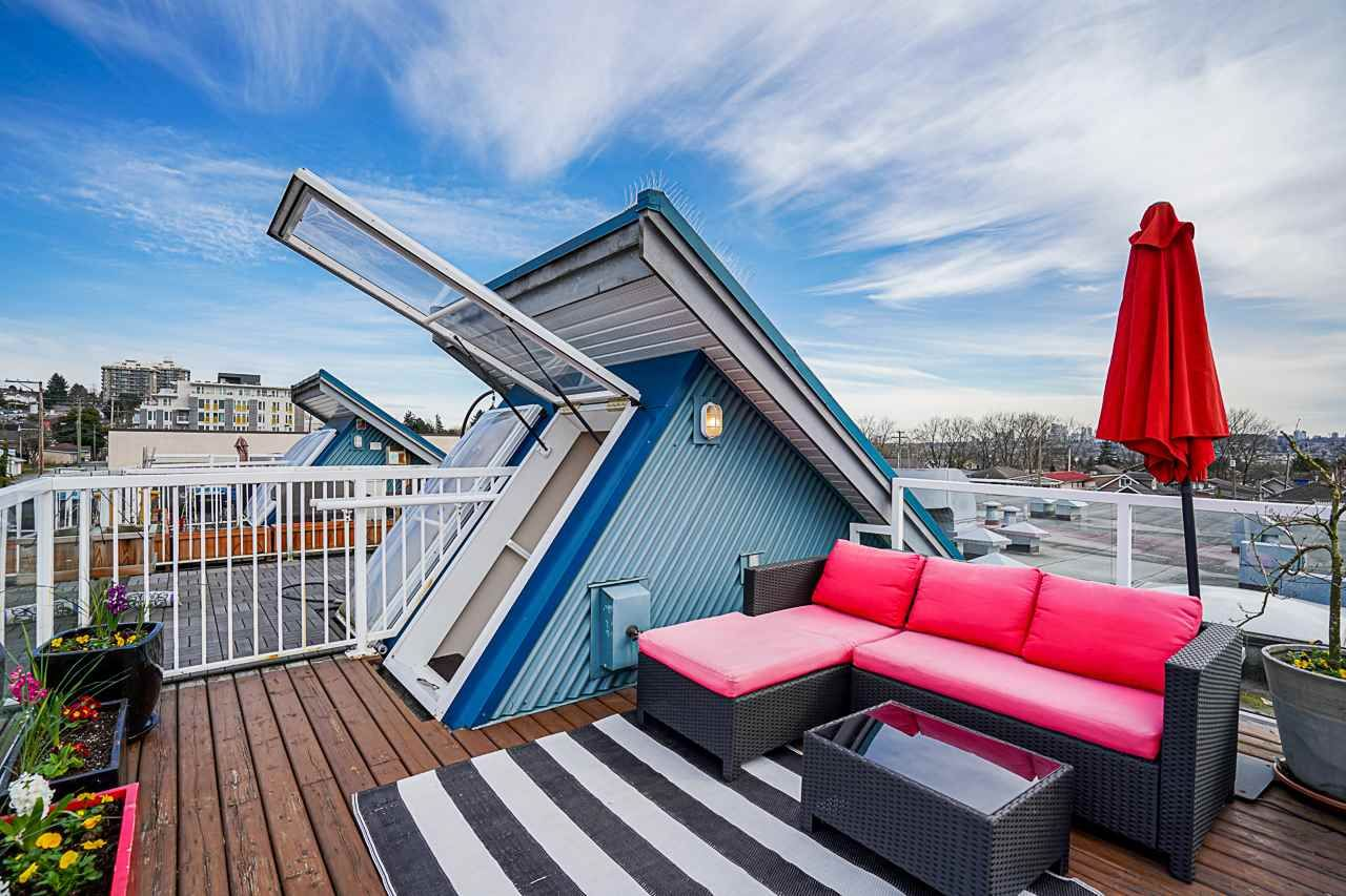 """Main Photo: 317 3423 E HASTINGS Street in Vancouver: Hastings Sunrise Townhouse for sale in """"ZOEY"""" (Vancouver East)  : MLS®# R2572668"""