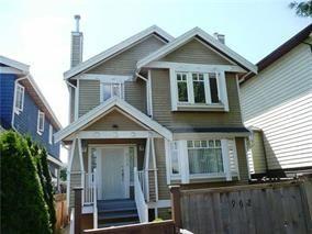 Main Photo: 968 E 12TH AVENUE in : Mount Pleasant VE 1/2 Duplex for sale : MLS®# R2043476