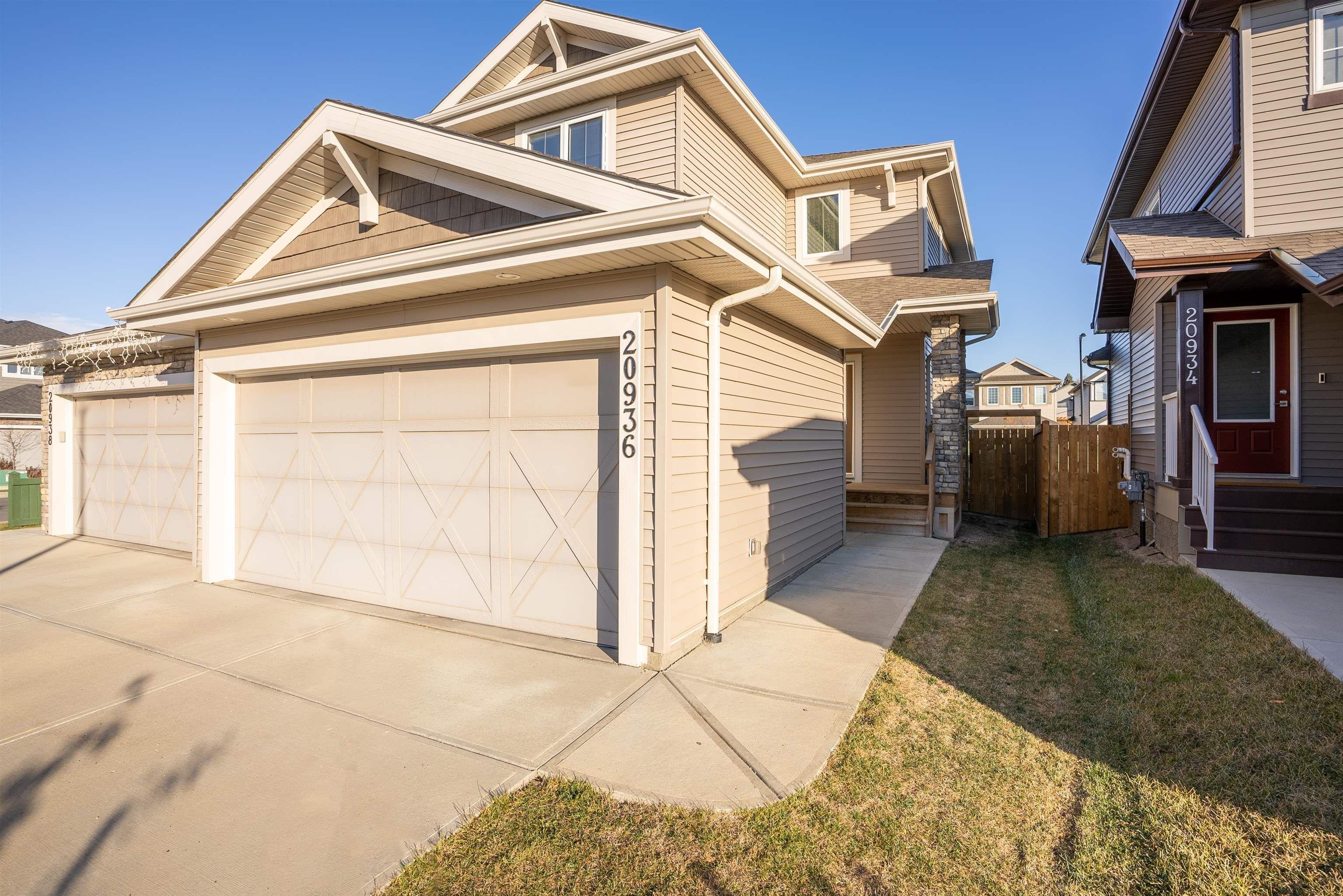 Main Photo: 20936 95 Avenue in Edmonton: Zone 58 House Half Duplex for sale : MLS®# E4266326